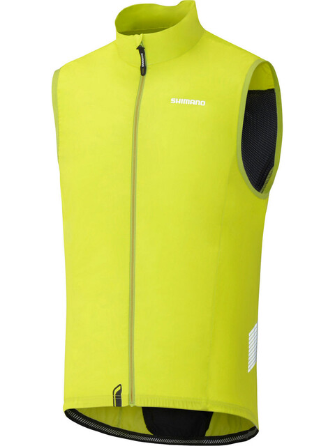 Shimano Compact Wind Vest Men Lime Yellow